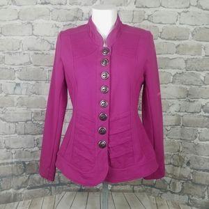 neon buddha Fitted Coat Jersey Knit SM Raspberry